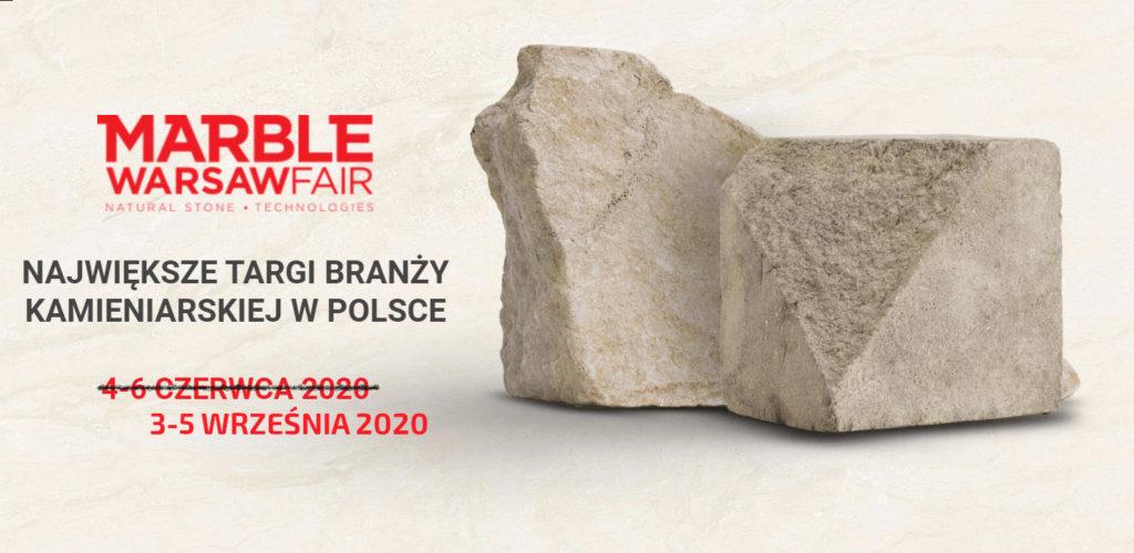 Targi kamieniarskie największe w polsce MARBLE WARSAW FAIR STONE Waszawa 3-5 Wrzesień 2020