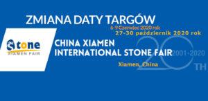 odwołane targi kamieniarskie xiamen stone fair 2020 odbędą się 27-30 października 2020